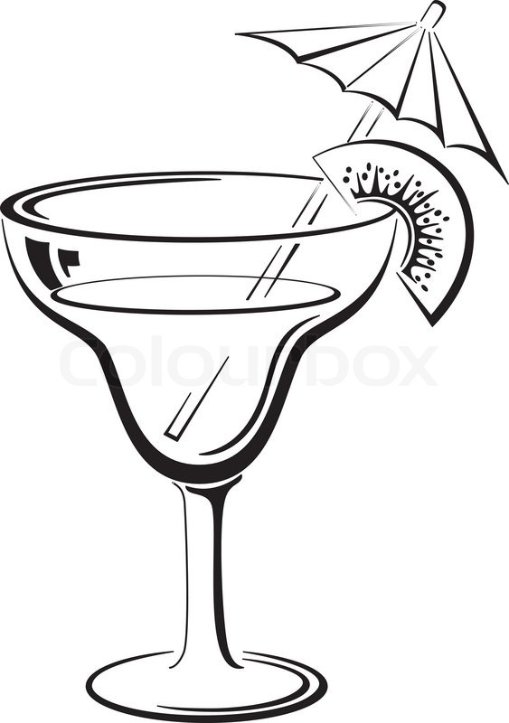 Cocktail clipart black and white black and white library Martini Glass Clipart Black And White | Free download best Martini ... black and white library