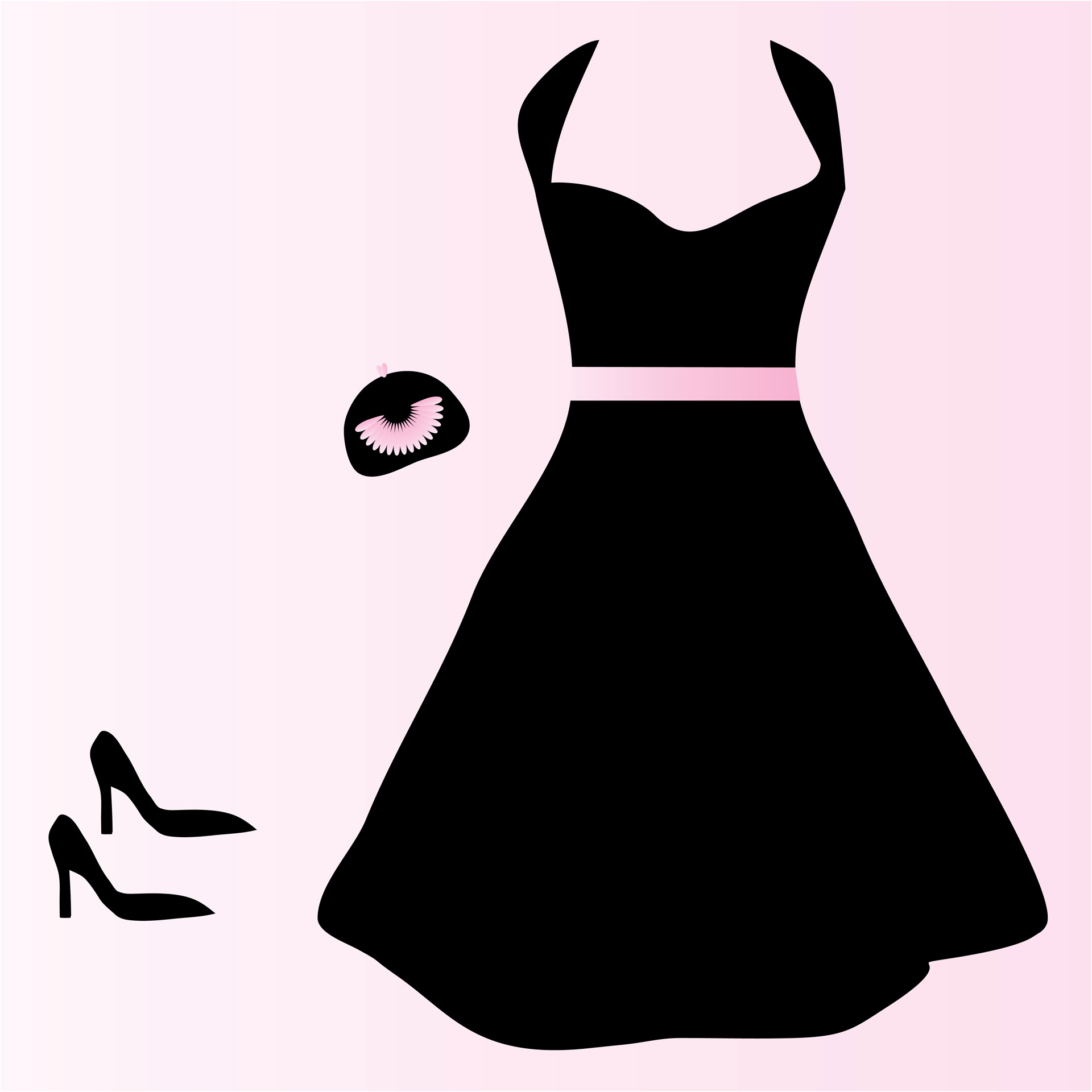 Cocktail dress clipart