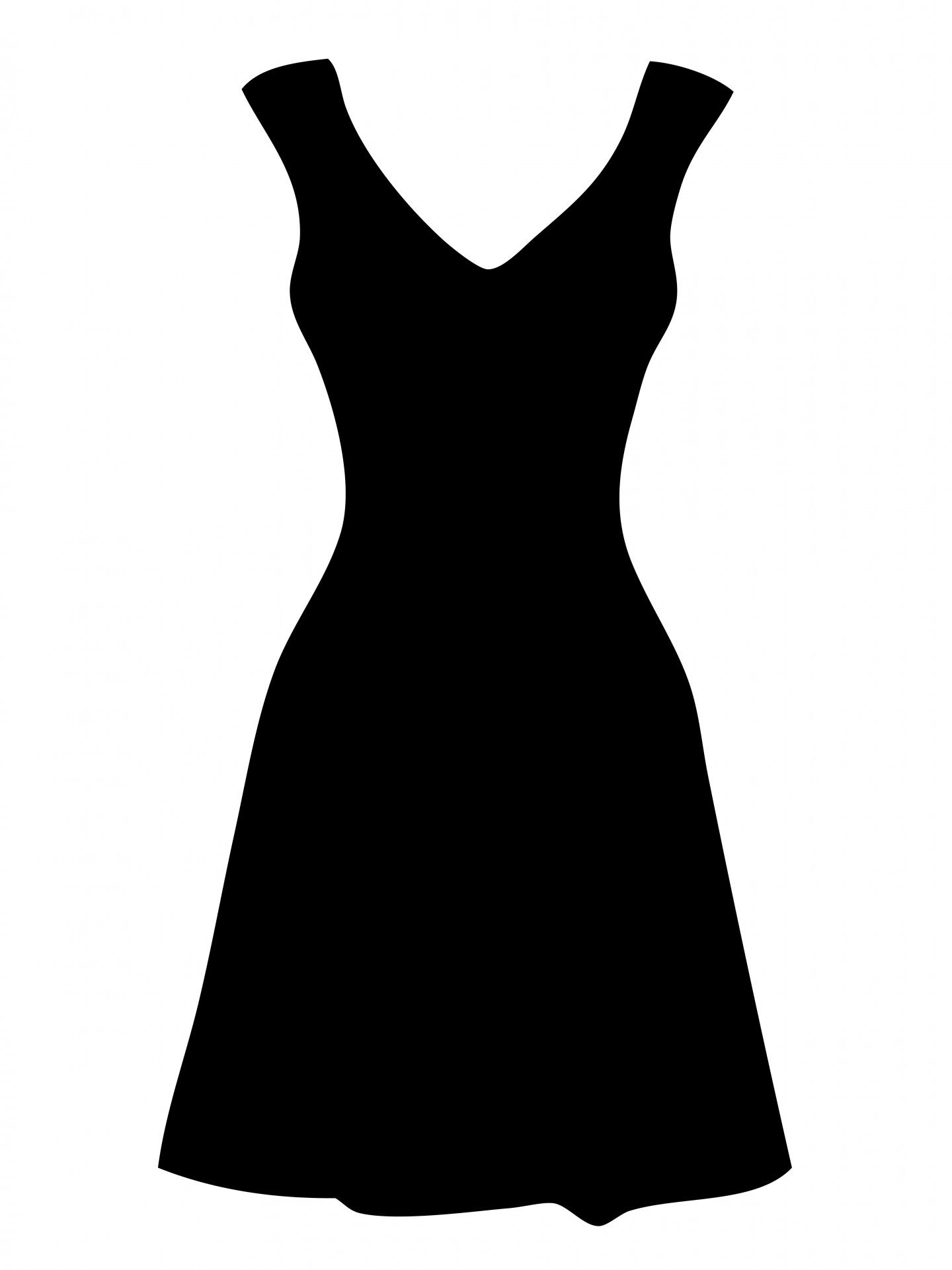 Vestidos clipart transparent library Free Clipart Of Dresses | Black Dress Clipart by Karen Arnold ... transparent library