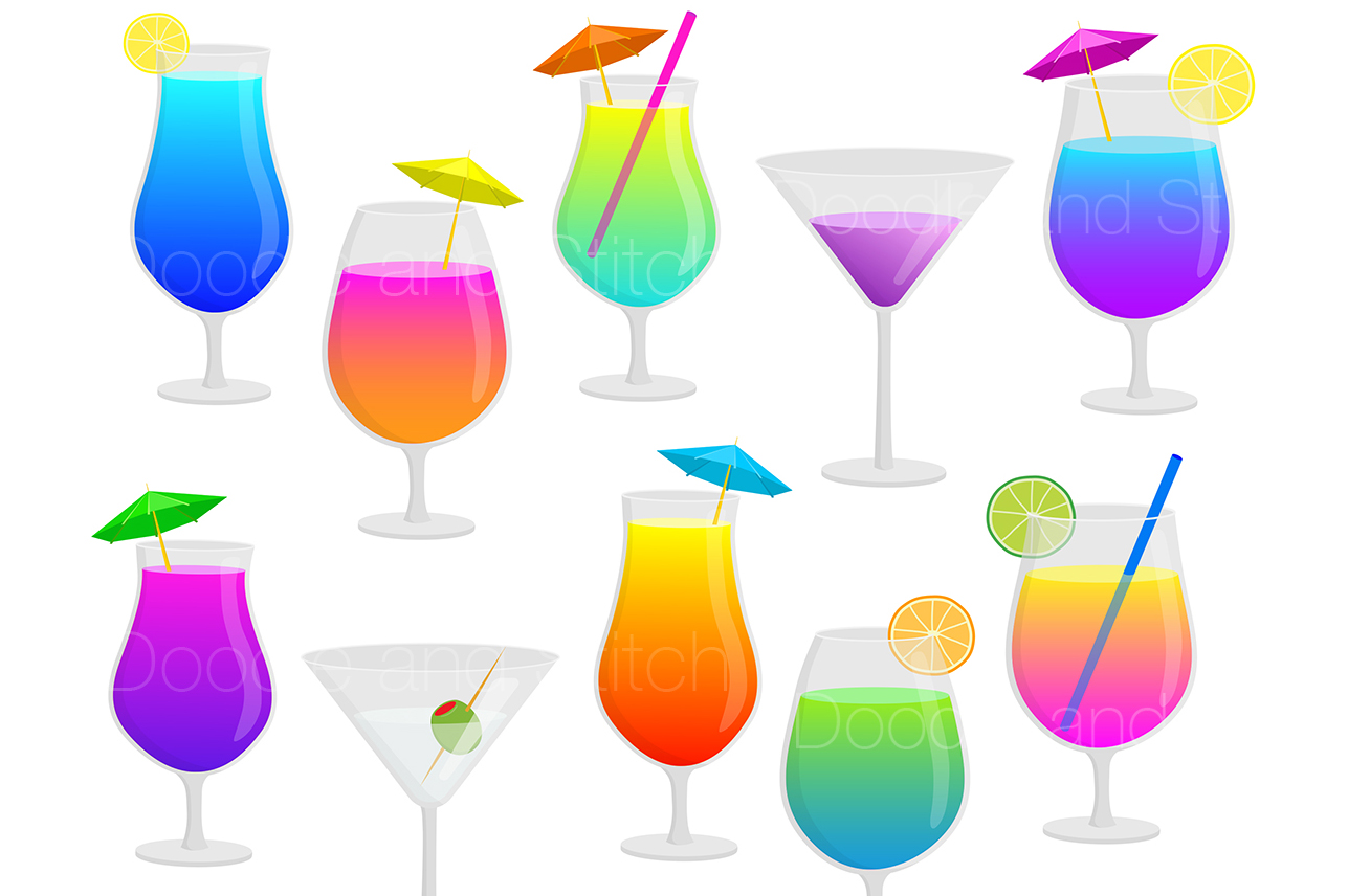 Cocktails clipart png free Cocktail Drinks Clipart Illustrations png free