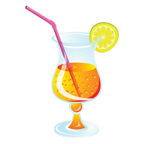 Cocktails cliparts kostenlos graphic black and white stock Summer Drink Clipart - Clipart Kid graphic black and white stock