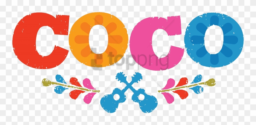 Coco disney clipart jpg black and white download Free Png Download Coco Logo Clipart Png Photo Png Images ... jpg black and white download