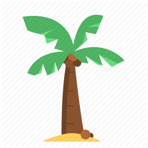 Coco palms clipart png stock \'Summer\' by Flat-icons.com png stock