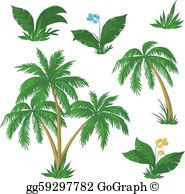Coco palms clipart picture royalty free stock Coco Palm Clip Art - Royalty Free - GoGraph picture royalty free stock