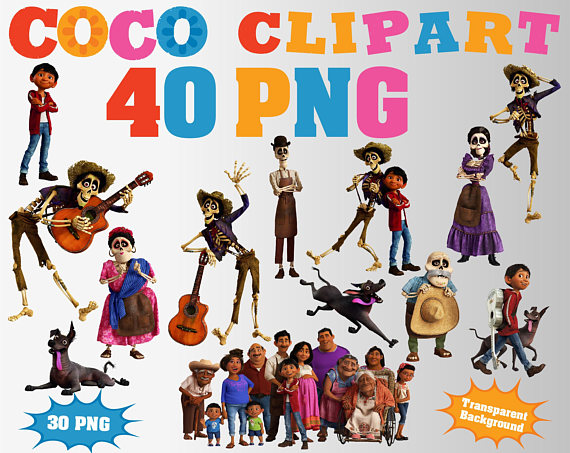 Coco pelicula clipart png freeuse stock Pin by Etsy on Products   Halloween invitations, Clip art ... png freeuse stock