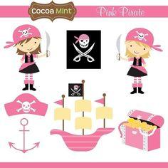 Clipartfox pink pirate. Cocoa mint clipart