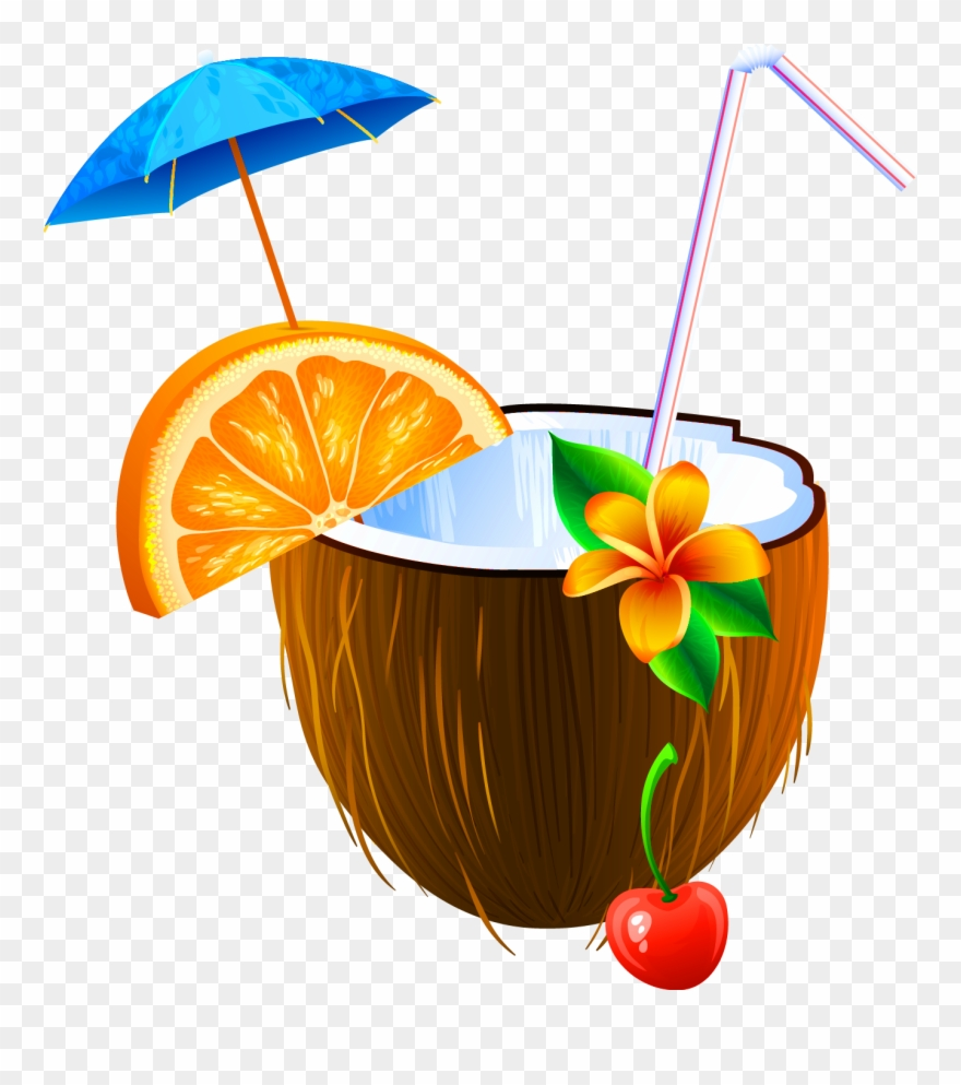 Coconut bikini clipart picture freeuse stock Coconut Clipart Beach Drink - Coconut Juice Clipart Png Transparent ... picture freeuse stock