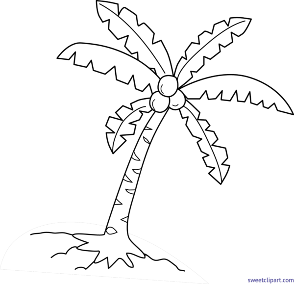 Coconut tree clipart black and white picture transparent stock All Clip Art Archives - Page 33 of 62 - Sweet Clip Art picture transparent stock