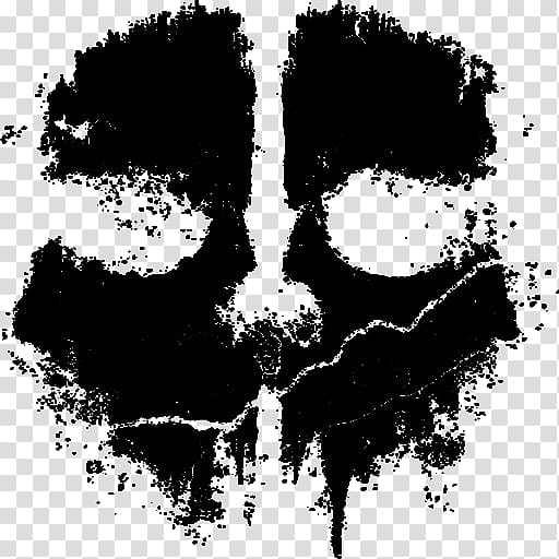 Cod ghosts logo clipart clipart download Black mask print illustration, Call of Duty: Ghosts Call of ... clipart download