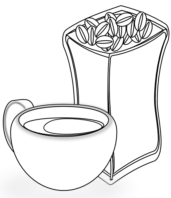 Coffee and book clipart graphic royalty free download clipartist.net » Clip Art » cup of coffee with sack of coffee beans ... graphic royalty free download