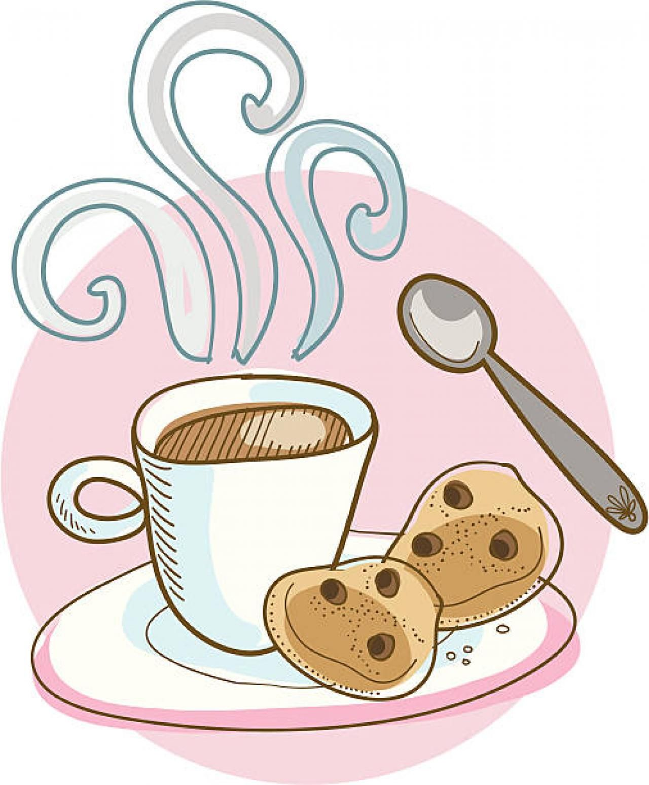 Coffee and cookies clipart