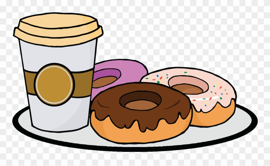 Coffee and doughnuts clipart graphic free stock Funny Donut Clipart - Cartoon Coffee And Donut - Png ... graphic free stock