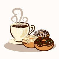 Coffee and doughnuts clipart banner freeuse download Coffee & Donuts stock vectors - Clipart.me banner freeuse download