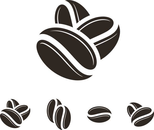 Coffee bean clipart black and white clip transparent Top Roasted Coffee Bean Clip Art Vector Graphics And ... clip transparent