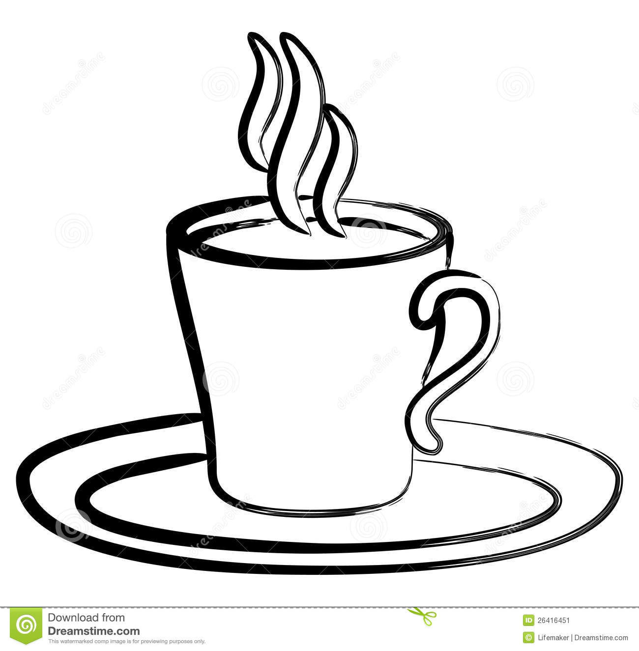 Coffee clipart black and white image library download Coffee clipart black and white 3 » Clipart Station image library download