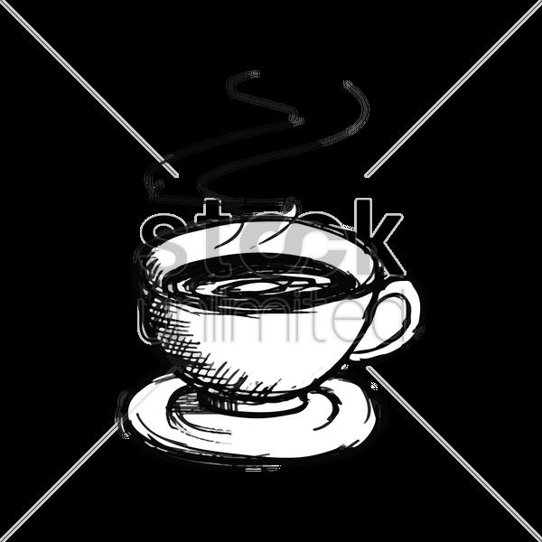 Coffee clipart black and white heart jpg black and white Cup Of Coffee Drawing at GetDrawings.com | Free for personal use Cup ... jpg black and white