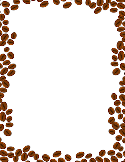 Coffee cup border clipart jpg free library Coffee Beans Border | Stationery borders | Page borders, Printable ... jpg free library