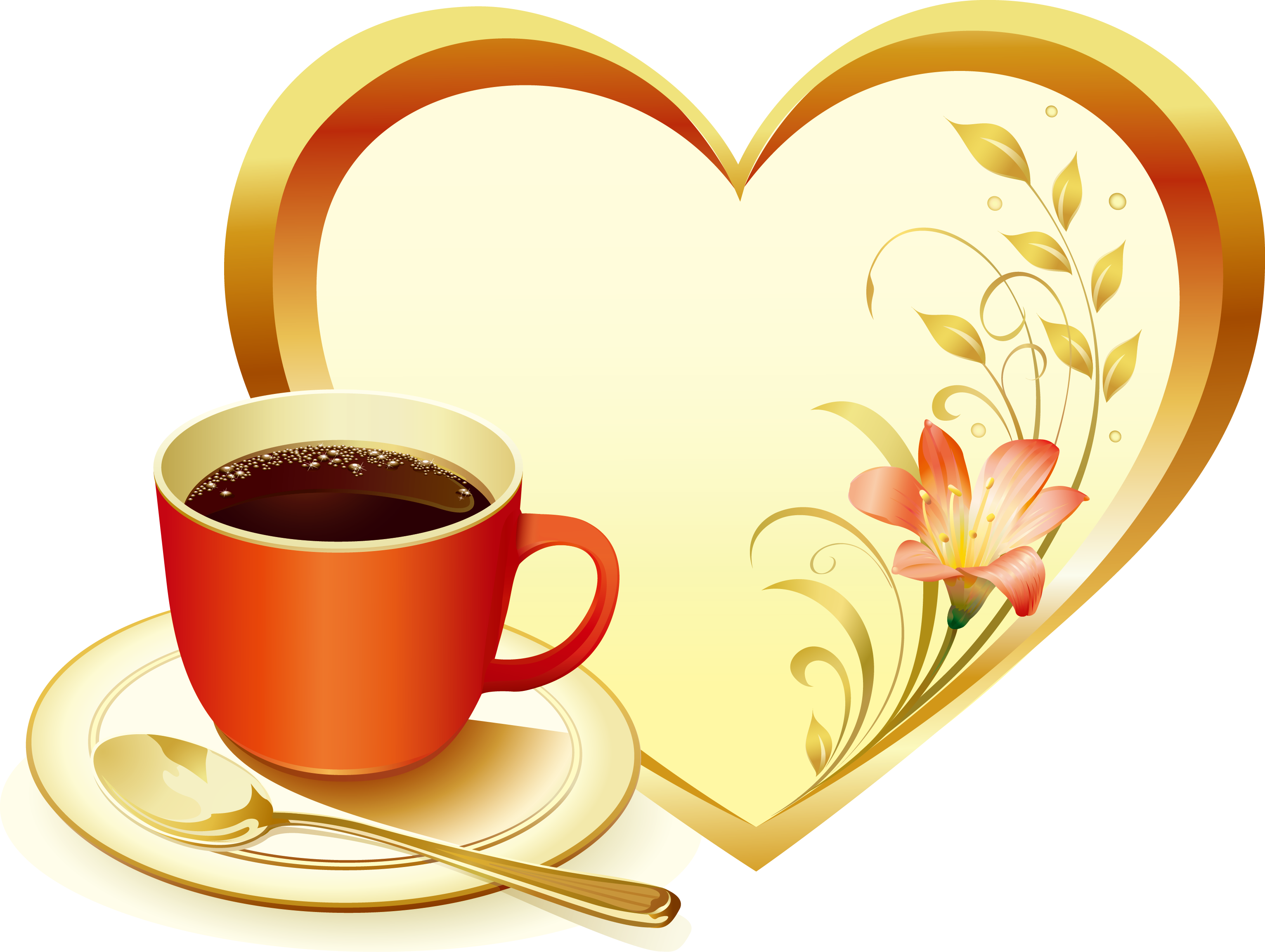 Coffee cup heart clipart clip art library Coffee Cafe Caffè Americano Latte Menu - Heart-shaped frame 3065 ... clip art library