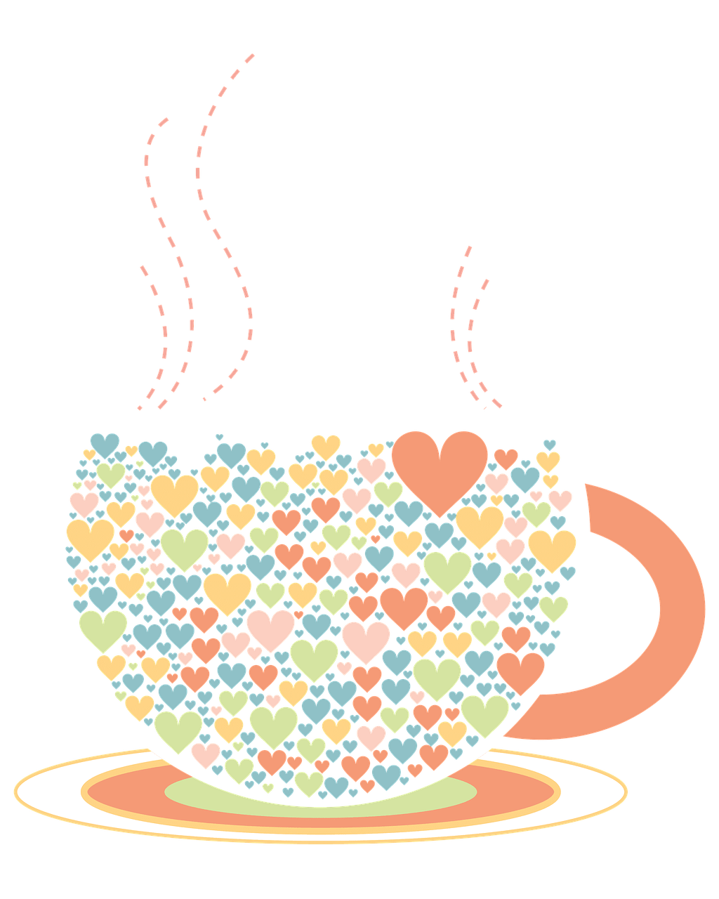 Coffee cup heart clipart jpg library stock Cup Hearts Drawing transparent PNG - StickPNG jpg library stock
