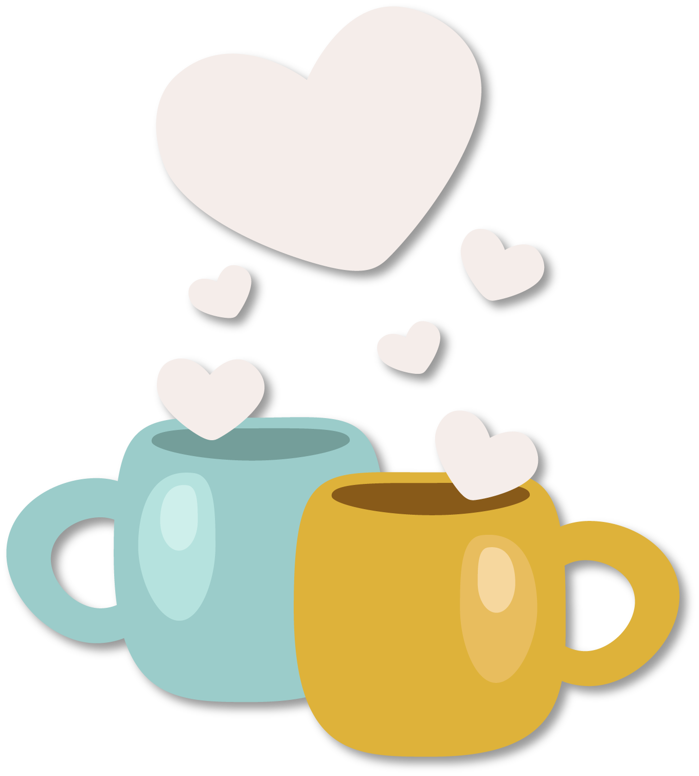 Coffee cup with heart clipart jpg download Qixi Festival Coffee cup Clip art - Valentines Day decorative ... jpg download