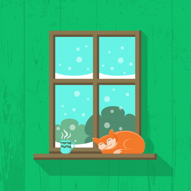 Coffee cup in window sill clipart banner transparent stock Red cat is sleeping and a cup of hot coffee or tea is ... banner transparent stock