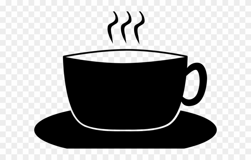 Coffee cup & saucer black & white clipart image freeuse Saucer Clipart Cup Saucer - Png Download (#3101016) - PinClipart image freeuse