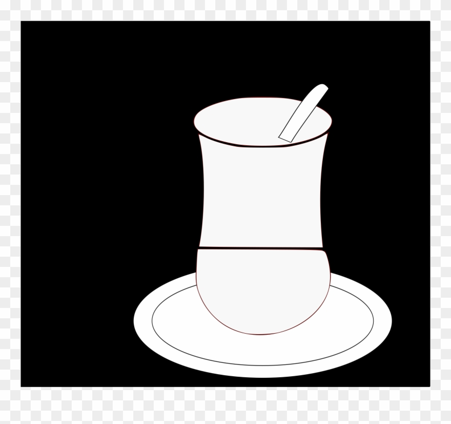 Coffee cup & saucer black & white clipart svg library download Coffee Cup Saucer Teacup Measuring Spoon - Saucer Clipart ... svg library download