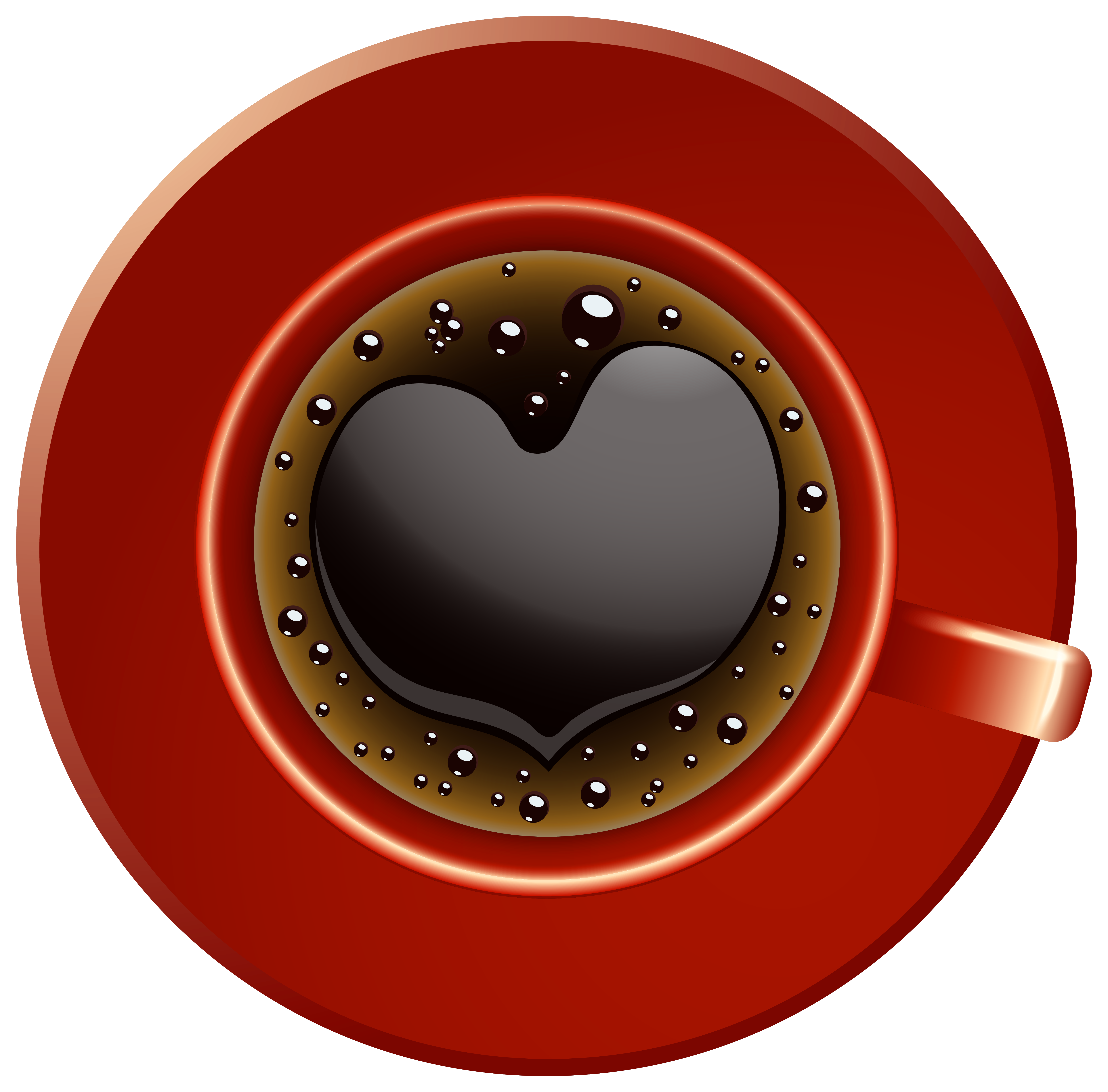 Coffee cup with heart clipart png royalty free Red Coffee Cup with Heart PNG Clip-Art Image | Gallery Yopriceville ... png royalty free