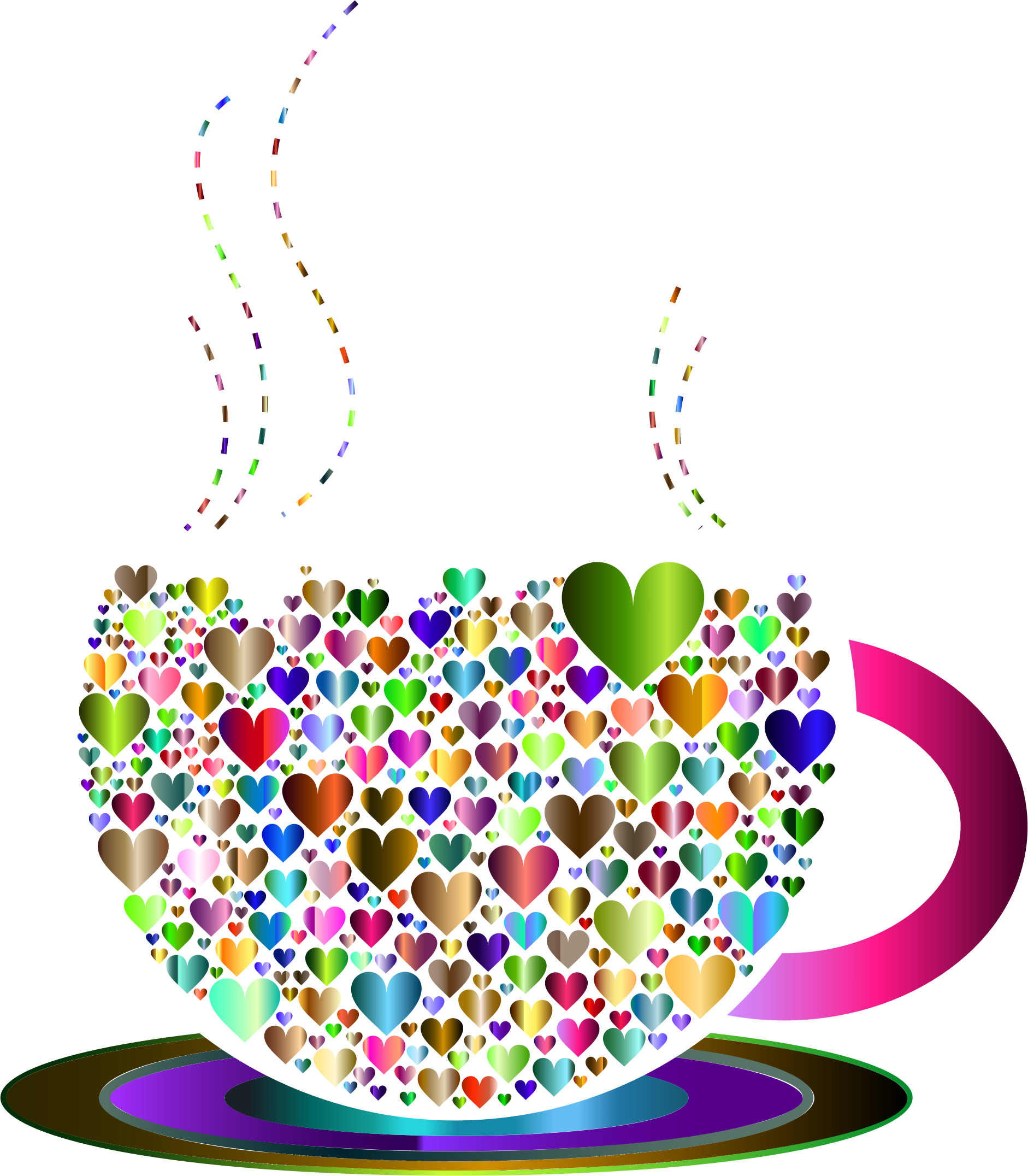 Coffee heart clipart clip art royalty free Clipart - Prismatic Love Hearts Coffee By Lin Chu 5 clip art royalty free