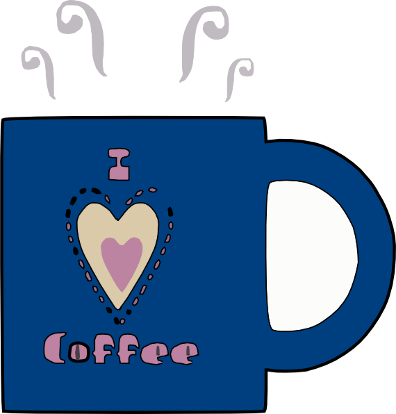 Coffee heart clipart image library stock I Love Hot Coffee Clip Art at Clker.com - vector clip art online ... image library stock