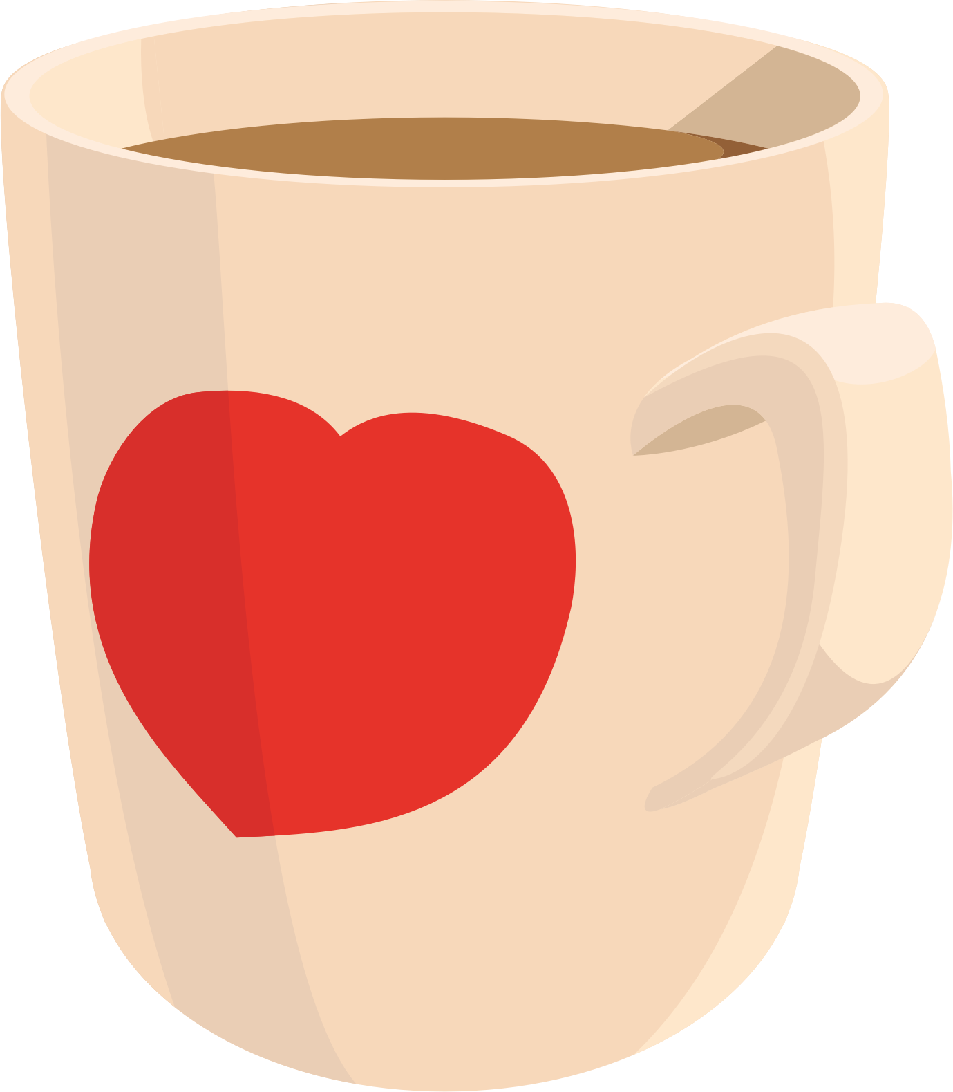 Coffee mug with heart clipart picture freeuse download Clipart - Coffee mug picture freeuse download