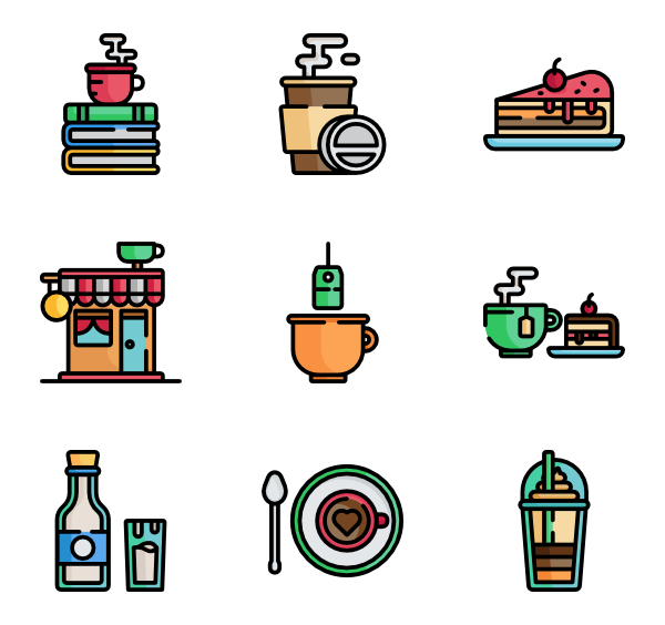 Coffee house clipart clip transparent Coffee cup Icons - 4,875 free vector icons clip transparent