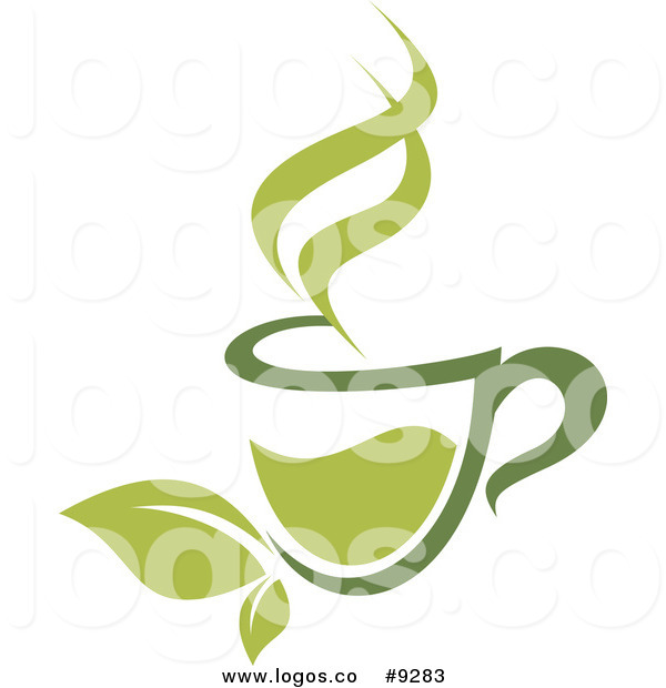 Coffee leaf clipart transparent stock Royalty Free Clip Art Vector Cup of Green Tea or Coffee with Leaves ... transparent stock