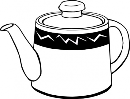 Coffee pot clipart black and white vector freeuse download Coffee Pot Clipart Black And White | Clipart Panda - Free ... vector freeuse download