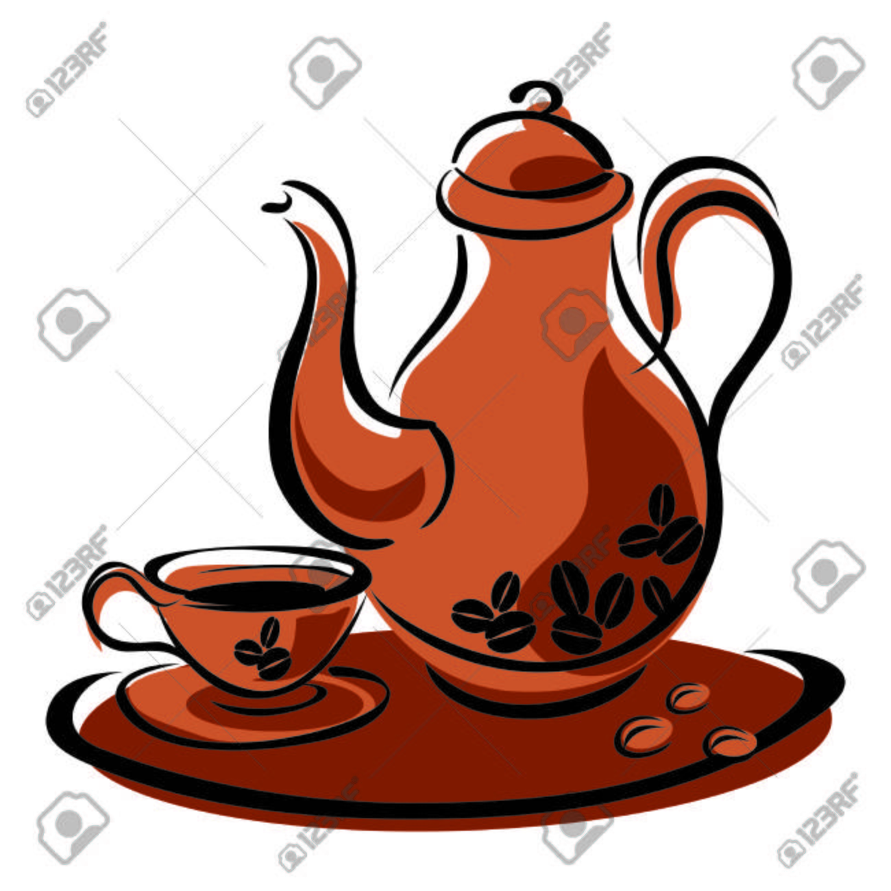 Coffee pot & cup clipart clip royalty free stock Coffee Pot Clipart | Free download best Coffee Pot Clipart ... clip royalty free stock