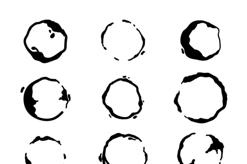 Coffee spill clipart image royalty free library 30 Coffee Stains Clipart- Watercolor + Black, Coffee Ring ... image royalty free library