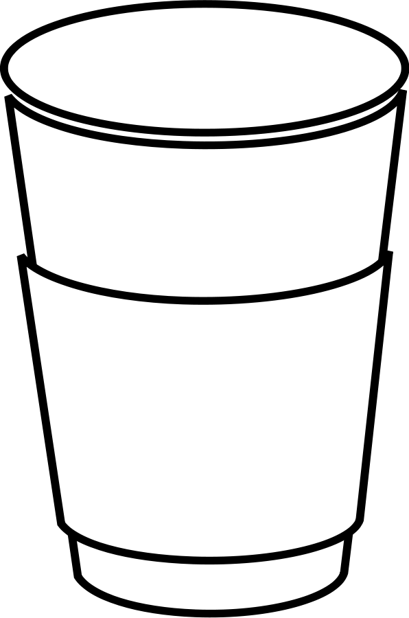 Filled water glass clipart b&w picture freeuse stock Free Free Coffee Cup Clipart, Download Free Clip Art, Free Clip Art ... picture freeuse stock