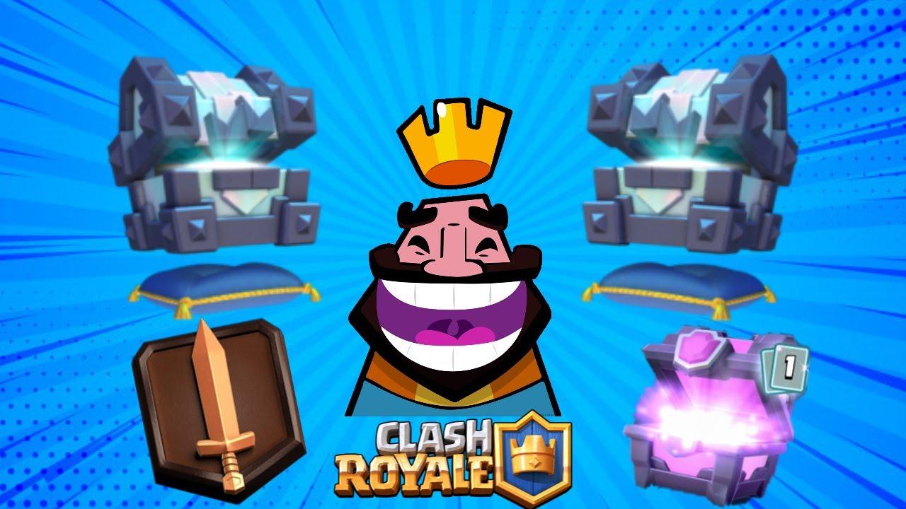 Cofre magico clipart graphic royalty free library Abriendo 2 cofres del rey legendario+cofre magico+subiendo a liga/CLASH  ROYALE graphic royalty free library