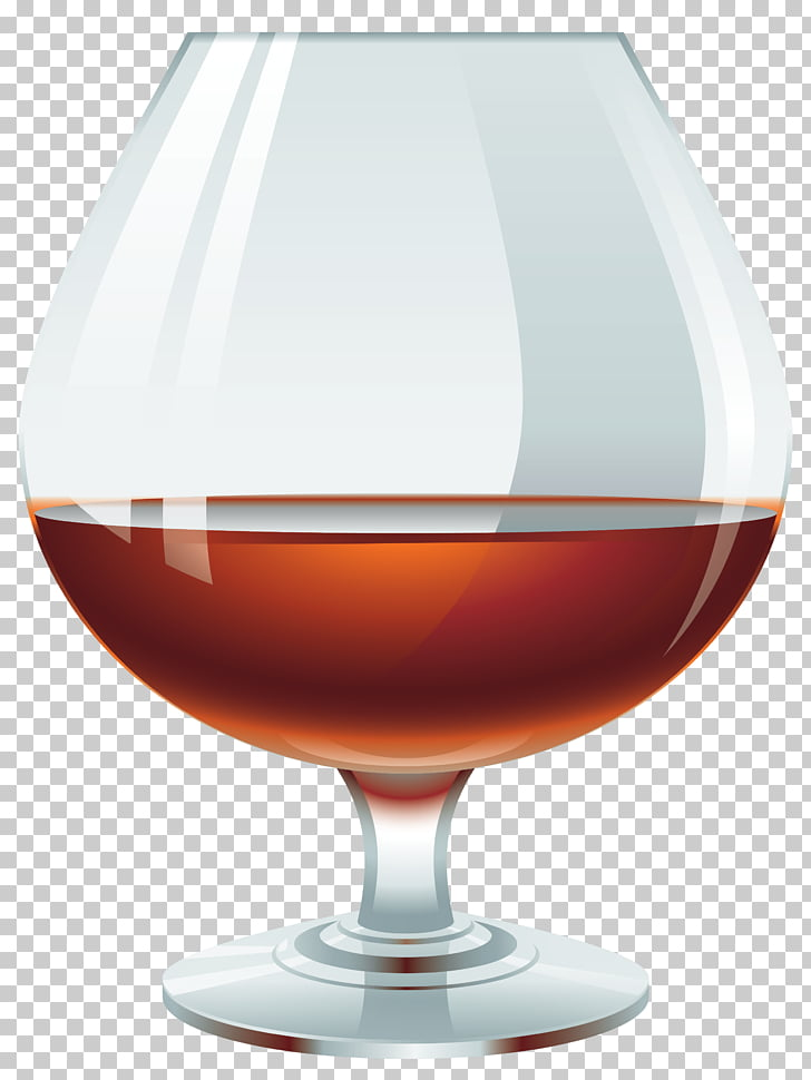Cognac glass clipart image library stock Brandy Cocktail Wine , Glass with Brandy , half-filled clear footed ... image library stock