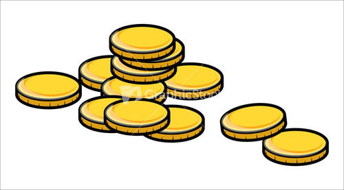 Vector gold coins clipart vector free download Cartoon gold coins clipart vector illustration stock image ... vector free download
