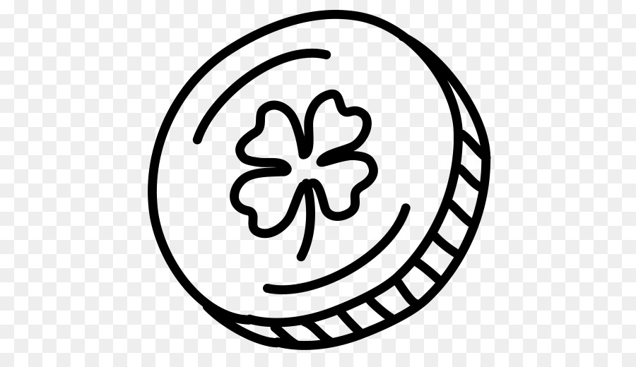 Coin outline clipart jpg transparent library Black And White Flower clipart - Coin, Leaf, Circle ... jpg transparent library