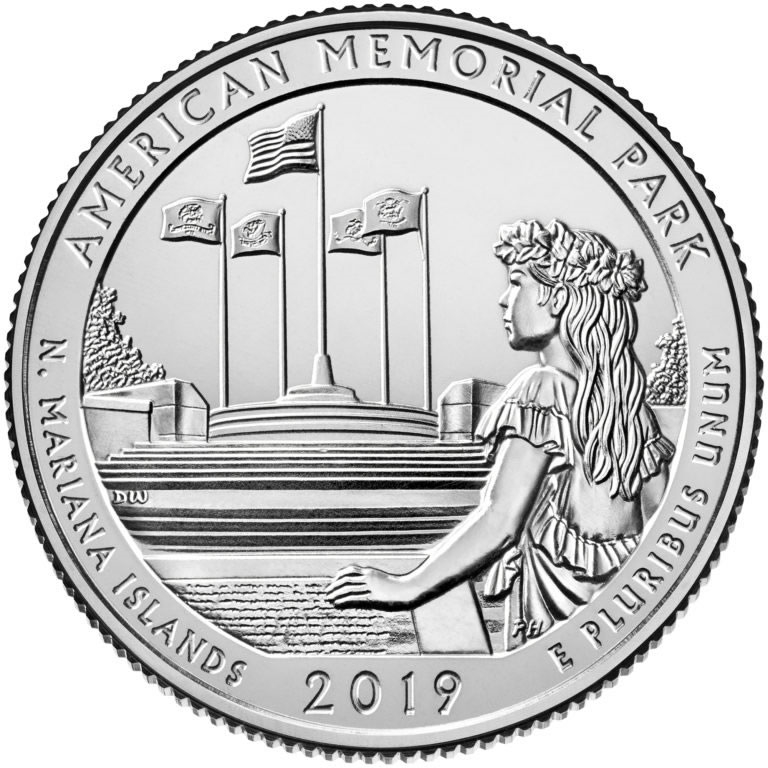 Coin wrapper clipart picture library stock 2019 - D American Memorial Park, NMI National Park Quarter 40 Coin Roll picture library stock