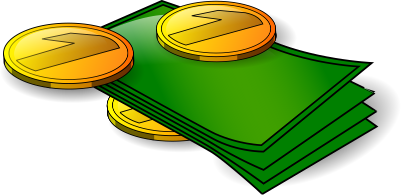 Coining money clipart graphic royalty free Clipart - Money - banknotes and coins graphic royalty free