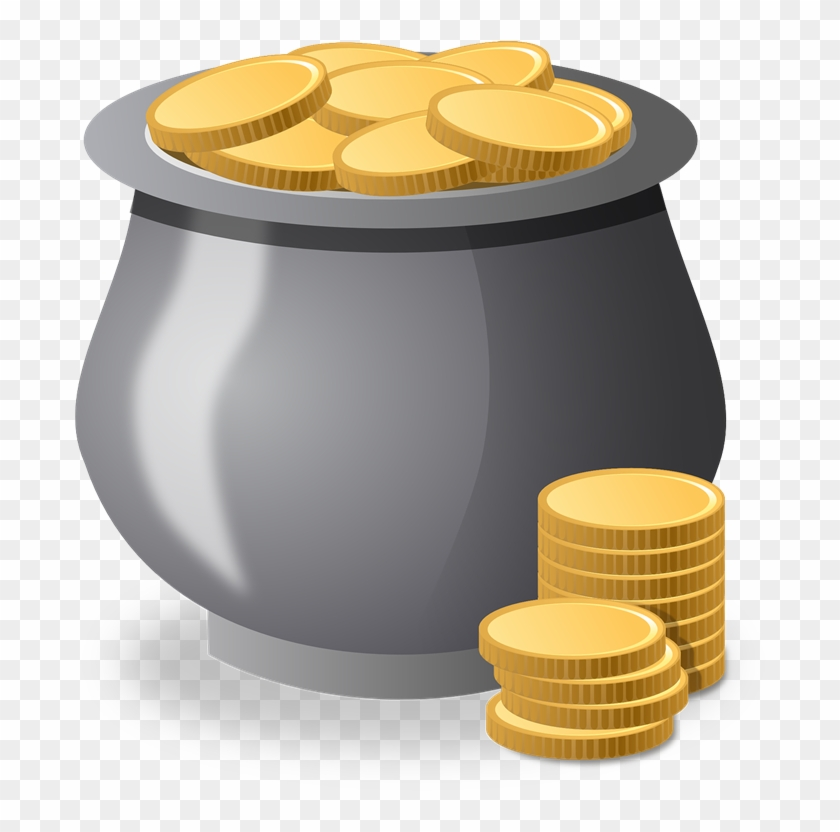 Coinpot clipart picture royalty free download Coins Clipart Gold Coin - Money Pot Clipart, HD Png Download ... picture royalty free download
