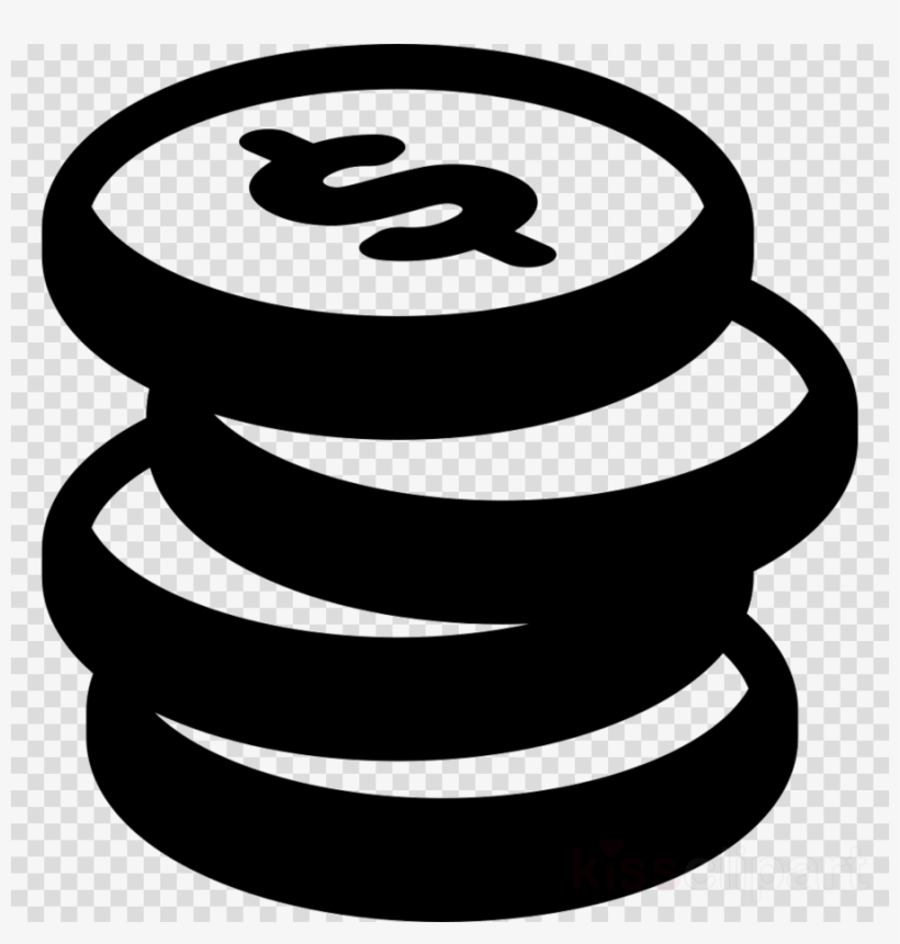 Coins clipart icon vector black and white Stack Of Coins Icon Clipart Computer Icons Coin - Budget Book: 4 ... vector black and white