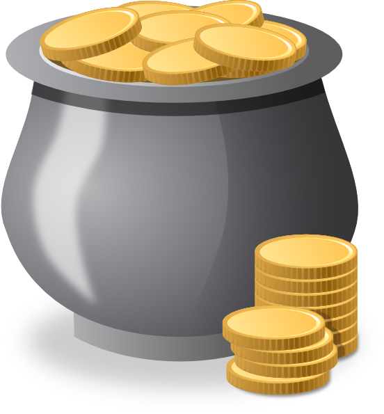 Coins money clipart image royalty free stock Gold Coins In A Pot Clip Art at Clker.com - vector clip art online ... image royalty free stock