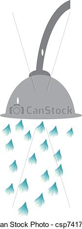 Vector of water csp. Cold shower clip art