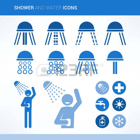 Cold shower clip art. Stock photos pictures royalty