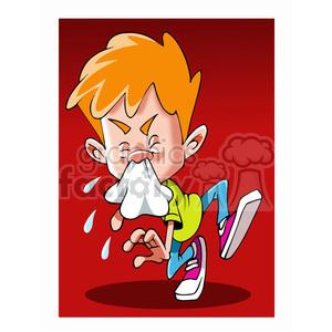 Sneezing animal clipart jpg stock kid sick with cold sneezing clipart. Royalty-free clipart # 393495 jpg stock