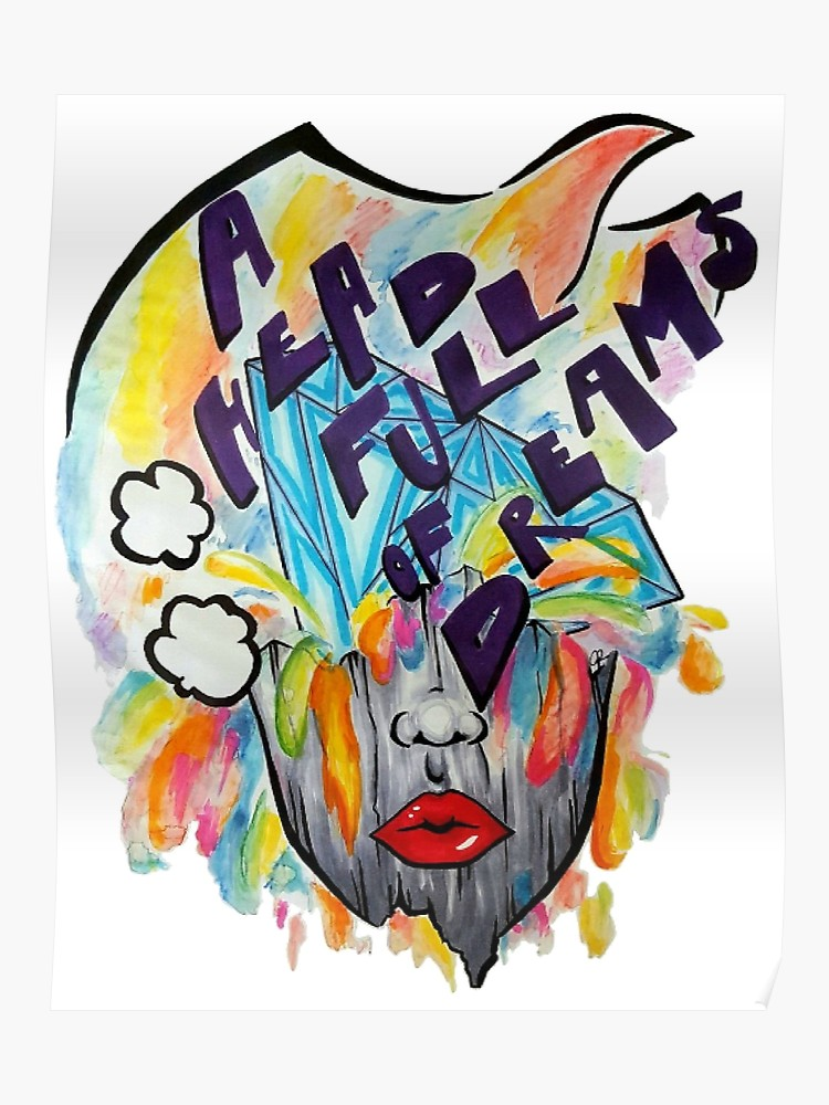 Coldplay a head full of dreams clipart clip free stock Coldplay - A Head Full Of Dreams   Poster clip free stock